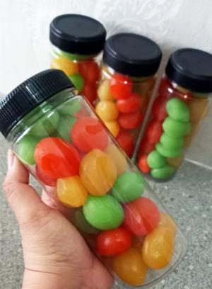 Hủ 500gr Đào tươi giòn tam sắc chua ngọt tự nhiên - Food by Mama