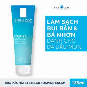 Sữa Rửa Mặt Làm Sạch Sâu Và Se Khít Lỗ Chân Lông Không Gây Khô Da La Roche Posay Effaclar Deep Cleansing Foaming Cream 125ml