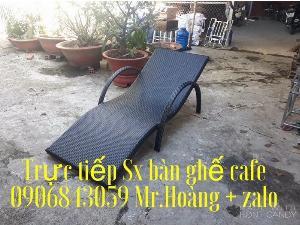 Ghế nhựa giả mây hồ bơi - nội thất Nguyễn hoàng