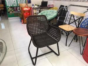 Ghế nhựa giả mây Cafe giá tốt - nội thất Nguyễn hoàng Sài Gòn