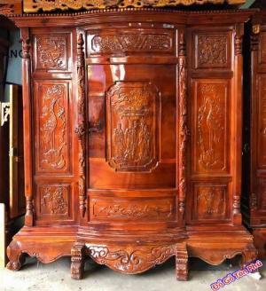 Tủ thờ gỗ xoan đào