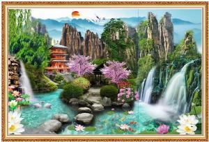 Tranh phong cảnh 3D - gạch tranh