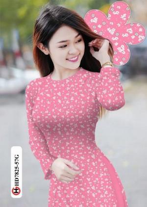 Vải áo dài hoa đẹp HD 7825