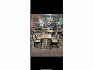 Bàn ghế gỗ khung sắt quán nhậu nội thất Nguyễn hoàng