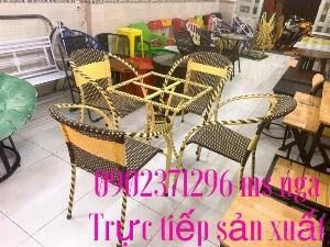 Bàn ghế mây cafe nội thất Nguyễn hoàng