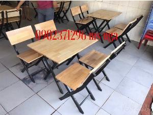 Bộ bàn ghế xếp quán nhậu nội thất Nguyễn hoàng
