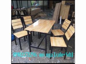 Bộ ghế gỗ quán ăn nội thất Nguyễn hoàng tphcm