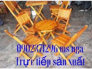 Bộ bàn ghế gỗ xếp lùn càe tại nội thất Nguyễn hoàng
