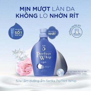 2021-01-16 15:45:30  4  Sữa Tắm Dưỡng Ẩm Senka Perfect Whip - Hương Hoa Hồng & Hoa Nhài 500ml 149,000