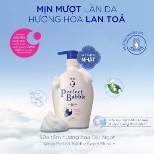 2021-01-16 15:56:23  2  Sữa Tắm Dưỡng Ẩm Senka Perfect Bubble - Hương Hoa Hồng & Đinh Hương 500ml 149,000