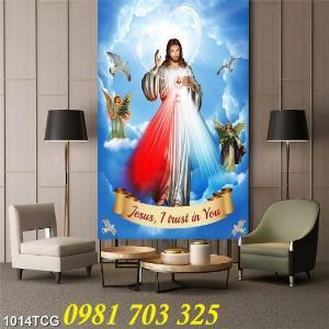 2021-01-16 16:23:12  4  Gạch tranh công giáo, tranh lòng thương xót Chúa 1,200,000
