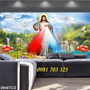 2021-01-16 16:23:12  3  Gạch tranh công giáo, tranh lòng thương xót Chúa 1,200,000
