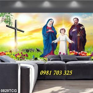 2021-01-16 16:24:13  5  Tranh gạch công giáo, tranh ia đình thánh gia 1,200,000