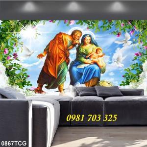 2021-01-16 16:24:13  4  Tranh gạch công giáo, tranh ia đình thánh gia 1,200,000