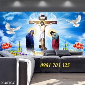 Tranh gạch công giáo, tranh ia đình thánh gia