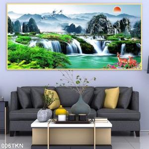 Gạch tranh 3D phong cảnh, tranh 3D phòng khách