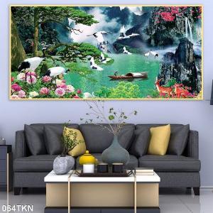 2021-01-16 16:25:42  2  Gạch tranh 3D phong cảnh, tranh 3D phòng khách 1,200,000