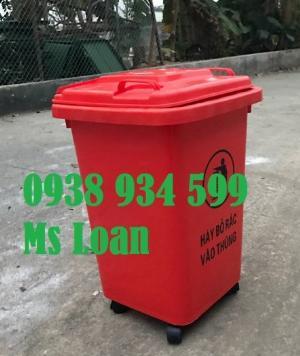 Thùng rác 60 lít,thùng rác công cộng 60 lít giá rẻ