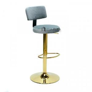 2021-01-18 14:23:30  2  Ghế bar có lưng tựa nệm vải nhung chân mạ màu vàng gold sang trọng tại HCM CAPTA 1,100,000