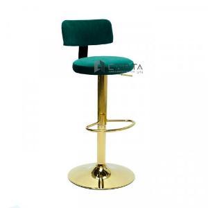 2021-01-18 14:23:30  1  Ghế bar có lưng tựa nệm vải nhung chân mạ màu vàng gold sang trọng tại HCM CAPTA 1,100,000