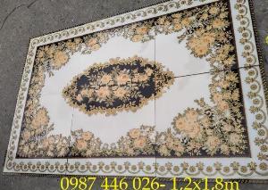 2021-01-18 14:59:46  11  Gạch thảm sàn, gạch trang trí hoa văn phòng khách HP822 2,690,000
