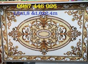 2021-01-18 14:59:46  6  Gạch thảm sàn, gạch trang trí hoa văn phòng khách HP822 2,690,000