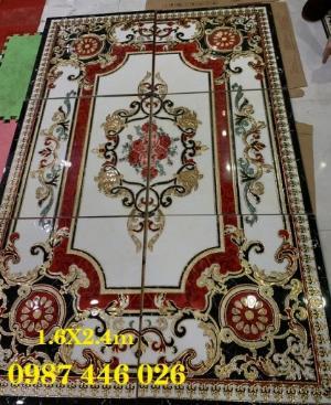 2021-01-18 14:59:46  5  Gạch thảm sàn, gạch trang trí hoa văn phòng khách HP822 2,690,000