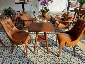 Bàn ghế cafe gỗ cao cấp giá sỉ tại xưởng