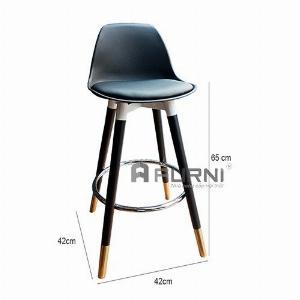 2021-01-18 16:30:58  2  Ghế đảo bếp cao 65 cm thân nhựa có nệm chân gỗ ống đồng CB2152-65P hiện đại giá rẻ TpHCM 1,250,000