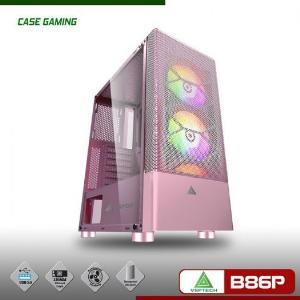 Vỏ thùng Case Gaming Vision VSP B86P hồng game net - Chưa kèm FAN
