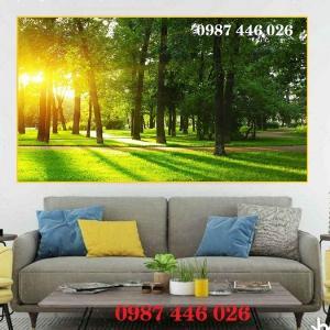 Gạch tranh phong cảnh hàng cây HP3748