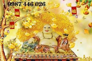Gạch tranh thần tài cây lộc vàng HP032