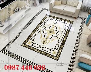 Thảm gạch phòng khách chữ nhật HP6101