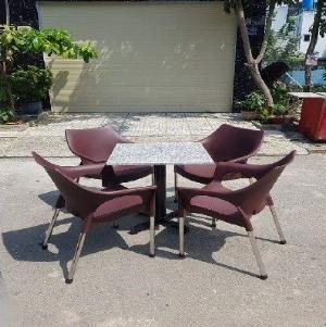 Bộ ghế nhựa cafe HGH2