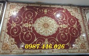 Gạch thảm trang trí phòng khách khắc vàng HP344