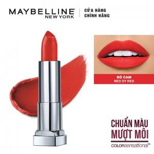 Son Lì Siêu Nhẹ Môi Maybelline New York Color Sensational Powder Matte 3.9g - Màu Đỏ 01 Red Dy Red
