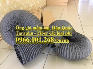 Ống gió mềm vải Tarpaulin Hàn Quốc , ống thông gió số 1 Việt Nam phi 100,phi 125,phi 150,phi 200,phi 300