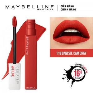 Son Kem Lì Maybelline Super Stay Matte Ink 5ml - Màu 118 Dancer