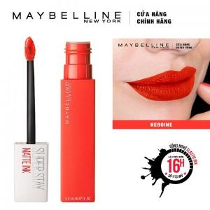 Son Kem Lì Maybelline Super Stay Matte Ink 5ml - Màu 25 Heroine