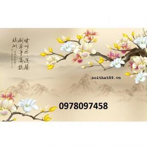 Gạch tranh vườn hoa - tranh ốp tường