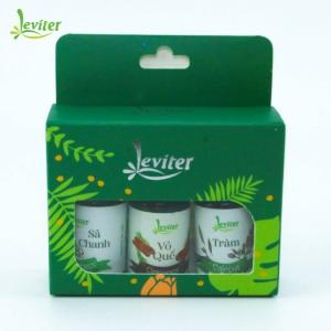 Combo 3 Chai Tinh Dầu Sức Khỏe Leviter – Sả chanh, Vỏ quế, Tràm (10ml/chai)