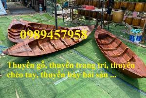 Làm thuyền gỗ trang trí, Thuyền gỗ chèo tay, Thuyền gỗ trưng bày hải sản