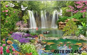 Tránh gạch - tranh phong cảnh- tranh gạch 3D