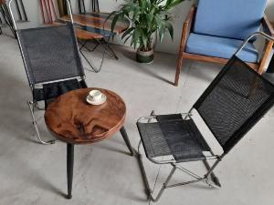 Bàn cafe gỗ đường kính 40cm