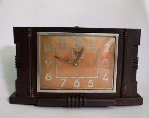 Đồng hồ để bàn Japy (Pháp) 1930 vỏ phíp máy chạy chuẩn
