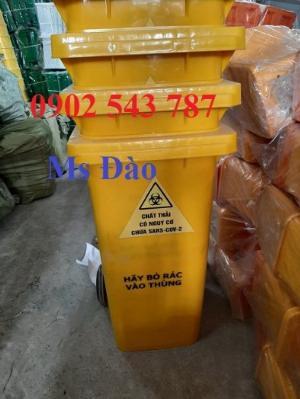 Thùng rác đựng chất thải có nguy cơ chưa sars-cov-2