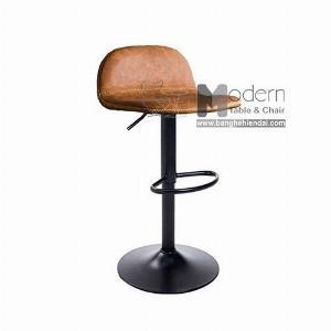 Ghế bar chân sắt tăng giảm chiều cao thân nệm hiện đại tại HCM