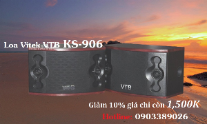 Loa Karaoke Gia đình Vitek VTB-906 hàng chính hãng Vietronics Tân BÌnh