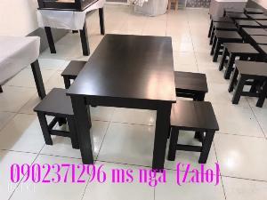Bàn ghế gỗ Sơn đen cafe tại xưởng NT Nguyễn hoàng
