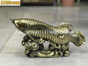Cá Rồng bằng đồng cao 21cm